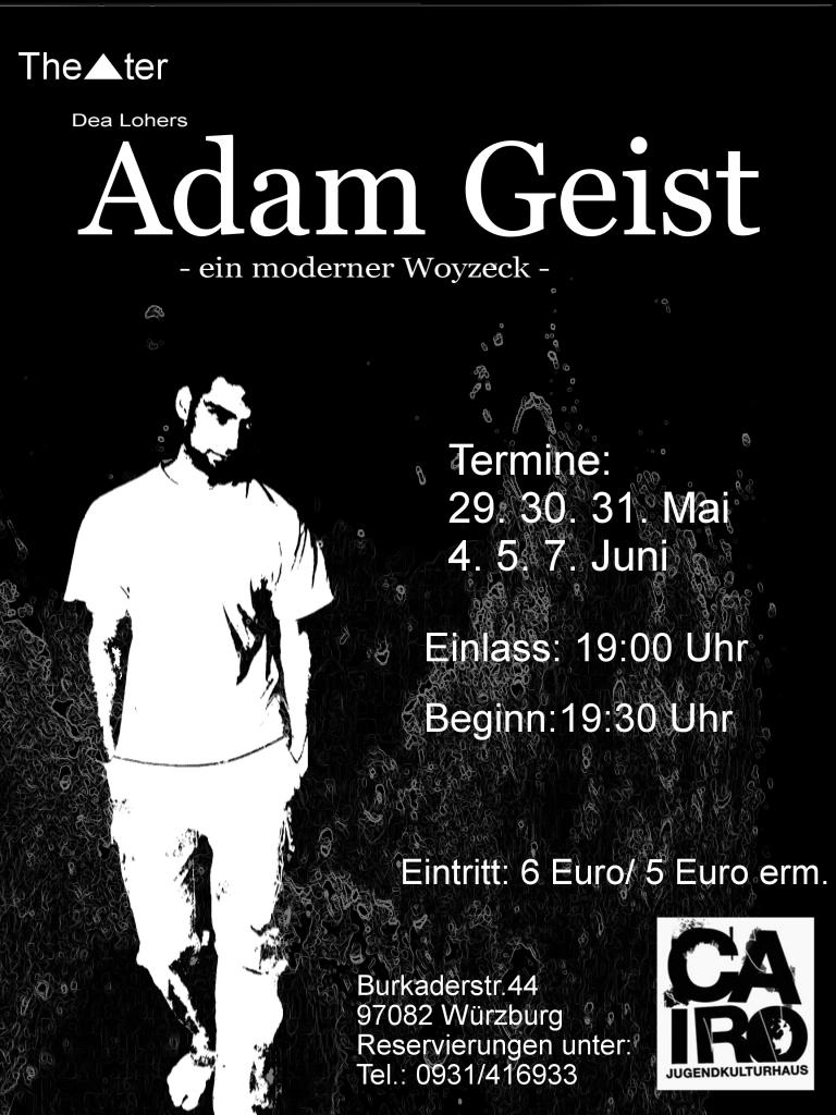 Plakat Adam Geist | theater dreieck würzburg