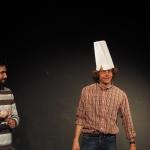 """Zwei Schauspieler in """"6 Personen suchen einen Autor"""" von Luigi Pirandello"""