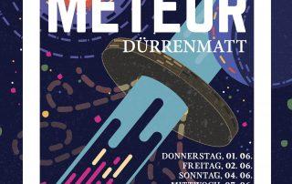 Das Plakat für den Meteor